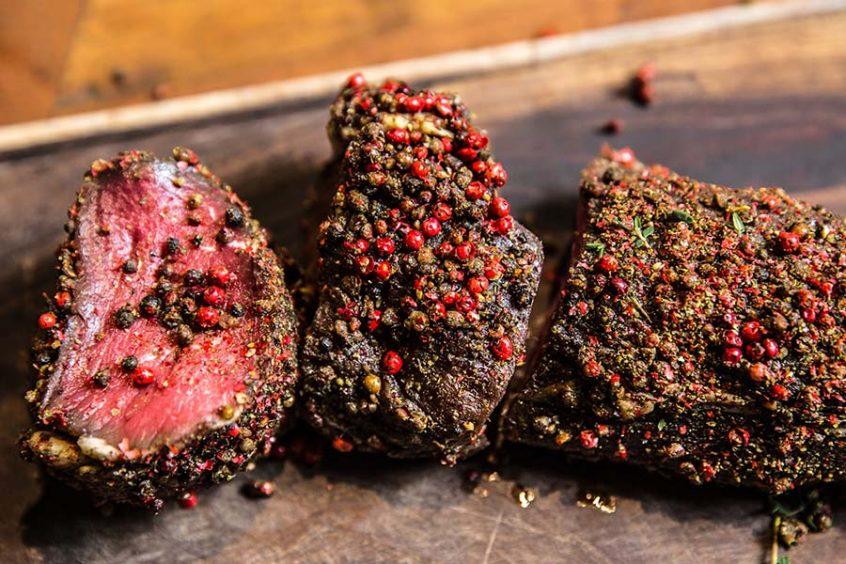 Pepper Crusted Steak