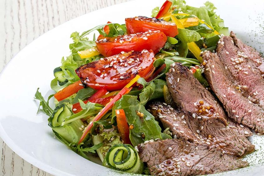 Rib Eye Steak Salad