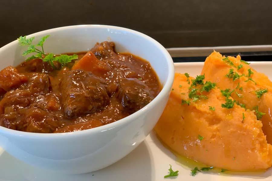 Venison with Sweet Potato Mash